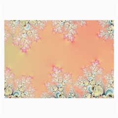 Peach Spring Frost On Flowers Fractal Glasses Cloth (large, Two Sided) by Artist4God