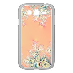 Peach Spring Frost On Flowers Fractal Samsung Galaxy Grand DUOS I9082 Case (White) by Artist4God