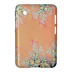 Peach Spring Frost On Flowers Fractal Samsung Galaxy Tab 2 (7 ) P3100 Hardshell Case  by Artist4God