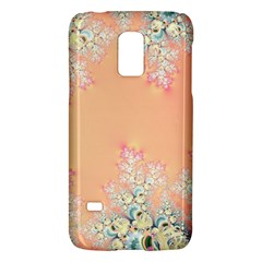 Peach Spring Frost On Flowers Fractal Samsung Galaxy S5 Mini Hardshell Case  by Artist4God