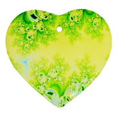 Sunny Spring Frost Fractal Heart Ornament by Artist4God