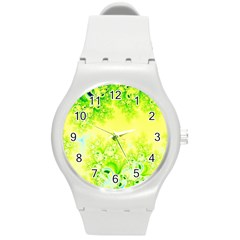 Sunny Spring Frost Fractal Plastic Sport Watch (medium) by Artist4God