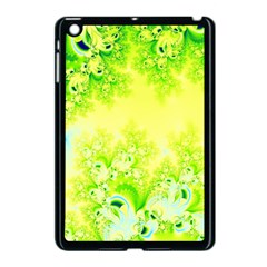 Sunny Spring Frost Fractal Apple Ipad Mini Case (black) by Artist4God