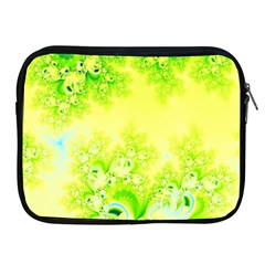 Sunny Spring Frost Fractal Apple Ipad Zippered Sleeve by Artist4God