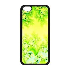 Sunny Spring Frost Fractal Apple Iphone 5c Seamless Case (black) by Artist4God