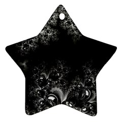 Midnight Frost Fractal Star Ornament by Artist4God