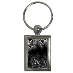 Midnight Frost Fractal Key Chain (rectangle) by Artist4God