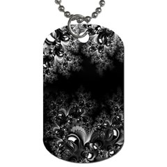 Midnight Frost Fractal Dog Tag (two Sided)  by Artist4God
