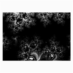 Midnight Frost Fractal Glasses Cloth (large, Two Sided) by Artist4God