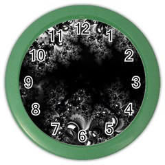 Midnight Frost Fractal Wall Clock (color) by Artist4God