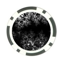 Midnight Frost Fractal Poker Chip (10 Pack) by Artist4God
