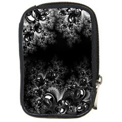 Midnight Frost Fractal Compact Camera Leather Case by Artist4God