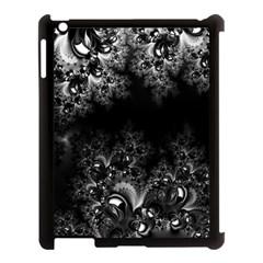 Midnight Frost Fractal Apple iPad 3/4 Case (Black) by Artist4God