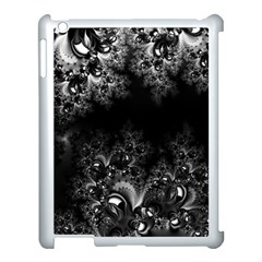 Midnight Frost Fractal Apple Ipad 3/4 Case (white) by Artist4God