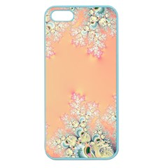 Peach Spring Frost On Flowers Fractal Apple Seamless Iphone 5 Case (color) by Artist4God