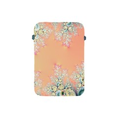 Peach Spring Frost On Flowers Fractal Apple Ipad Mini Protective Sleeve by Artist4God