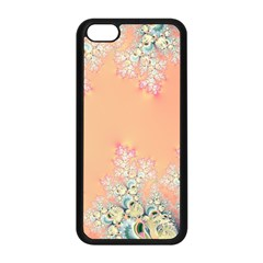Peach Spring Frost On Flowers Fractal Apple Iphone 5c Seamless Case (black) by Artist4God
