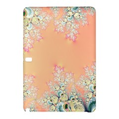 Peach Spring Frost On Flowers Fractal Samsung Galaxy Tab Pro 12 2 Hardshell Case by Artist4God