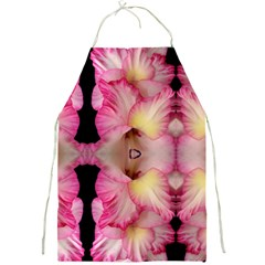 Pink Gladiolus Flowers Apron by Artist4God