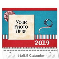 2015 Celebrate America Calendar By Lisa Minor   Wall Calendar 11  X 8 5  (12 Months)   Mrob9pvsmko2   Www Artscow Com Cover