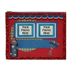Celebrate America Xl Cosmetic Bag By Lisa Minor   Cosmetic Bag (xl)   9gp58nvhnd9q   Www Artscow Com Front