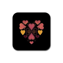 Love Collage Drink Coaster (square) by whitemagnolia