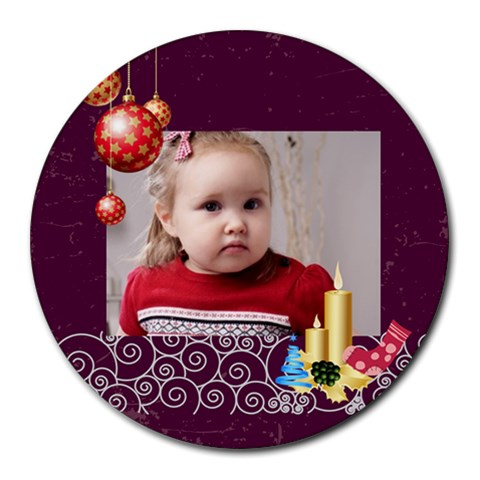 Xmas By Xmas   Collage Round Mousepad   0twi8p8o0nqp   Www Artscow Com 8 x8 Round Mousepad - 1