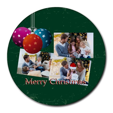 Xmas By Xmas   Collage Round Mousepad   55pifhk1xcwr   Www Artscow Com 8 x8 Round Mousepad - 1