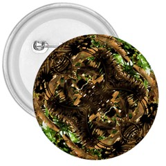 Artificial Tribal Jungle Print 3  Button by dflcprints