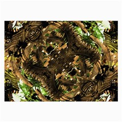 Artificial Tribal Jungle Print Glasses Cloth (large, Two Sided) by dflcprints