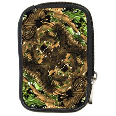 Artificial Tribal Jungle Print Compact Camera Leather Case by dflcprints
