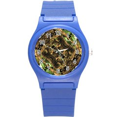 Artificial Tribal Jungle Print Plastic Sport Watch (small) by dflcprints