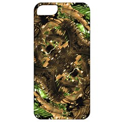 Artificial Tribal Jungle Print Apple Iphone 5 Classic Hardshell Case by dflcprints