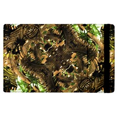 Artificial Tribal Jungle Print Apple Ipad 3/4 Flip Case by dflcprints