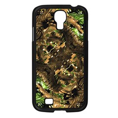 Artificial Tribal Jungle Print Samsung Galaxy S4 I9500/ I9505 Case (black) by dflcprints