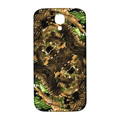 Artificial Tribal Jungle Print Samsung Galaxy S4 I9500/i9505  Hardshell Back Case by dflcprints