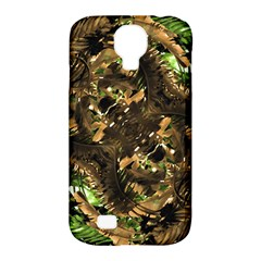 Artificial Tribal Jungle Print Samsung Galaxy S4 Classic Hardshell Case (pc+silicone) by dflcprints