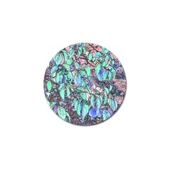 Colored Pencil Tree Leaves Drawing Golf Ball Marker by LokisStuffnMore