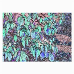 Colored Pencil Tree Leaves Drawing Glasses Cloth (large) by LokisStuffnMore