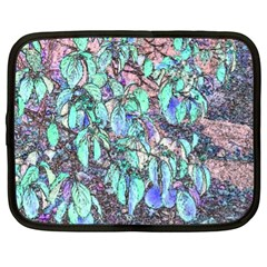 Colored Pencil Tree Leaves Drawing Netbook Sleeve (xl) by LokisStuffnMore