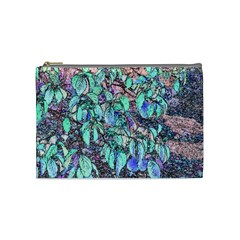 Colored Pencil Tree Leaves Drawing Cosmetic Bag (medium) by LokisStuffnMore