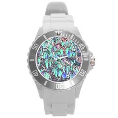 Colored Pencil Tree Leaves Drawing Plastic Sport Watch (large) by LokisStuffnMore