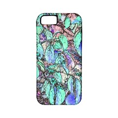 Colored Pencil Tree Leaves Drawing Apple Iphone 5 Classic Hardshell Case (pc+silicone) by LokisStuffnMore
