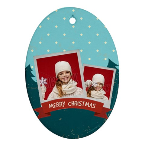 Merry Christmas By Xmas   Ornament (oval)   Nwgktfq3kvbb   Www Artscow Com Front