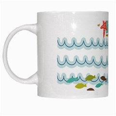 Summer Holiday White Coffee Mug by whitemagnolia