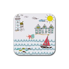 Summer Holiday Drink Coaster (square) by whitemagnolia