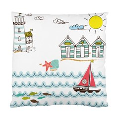 Summer Holiday Cushion Case (two Sided)  by whitemagnolia