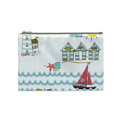 Summer Holiday Cosmetic Bag (medium) by whitemagnolia