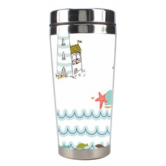 Summer Holiday Stainless Steel Travel Tumbler by whitemagnolia