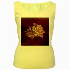 Rose Women s Tank Top (yellow)